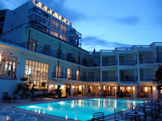Belvedere Hotel Is Situated At St John Village Of Corfu Just Across The Road From Sea And A Small Pebbly Be