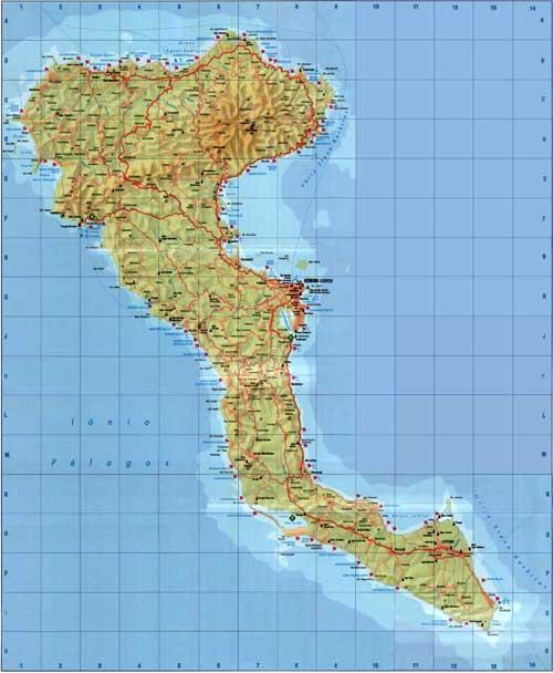 Corfu Hotels Greece Corfu Travel Guide Corfu City Map